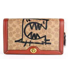 Coach Signature Graffiti Rexy Riley Chain Flap Crossbody bag 2CO1214
