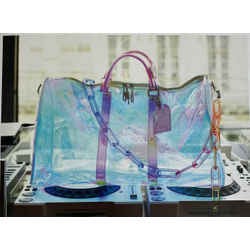 Louis Vuitton Keepall Bandouliere 50 Prism Iridescent PVC Luggage Duffle DC431