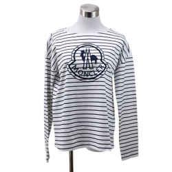 Moncler White Black Striped Top sz 4