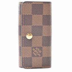 Auth Louis Vuitton Louis Vuitton Damier Multikre 4 Key Case Brown Pvc