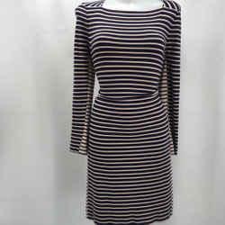 Tory Burch Navy Stripe Dress Medium