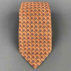 ERMENEGILDO ZEGNA Copper Circles Silk Tie