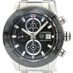 Polished TAG HEUER Carrera Caliber Heuer 01 Chronograph Watch CAR201Z BF515963