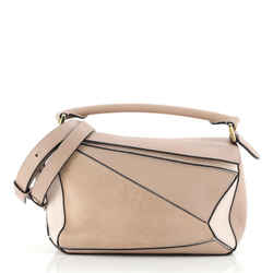 Puzzle Bag Leather and Suede Small