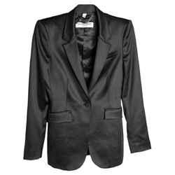 Burberry Prorsum Satin-paneled Wool-blend Size S Black Blazer Size: 6 (S)