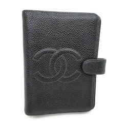 Chanel Black Caviar Small Ring Agenda PM Diary Cover 863485