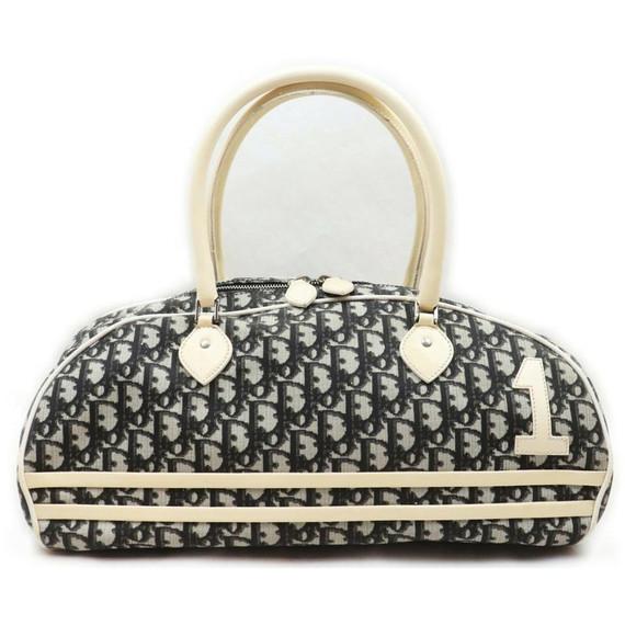 Christian Dior Black  Monogram Trotter Boston Bag 862013