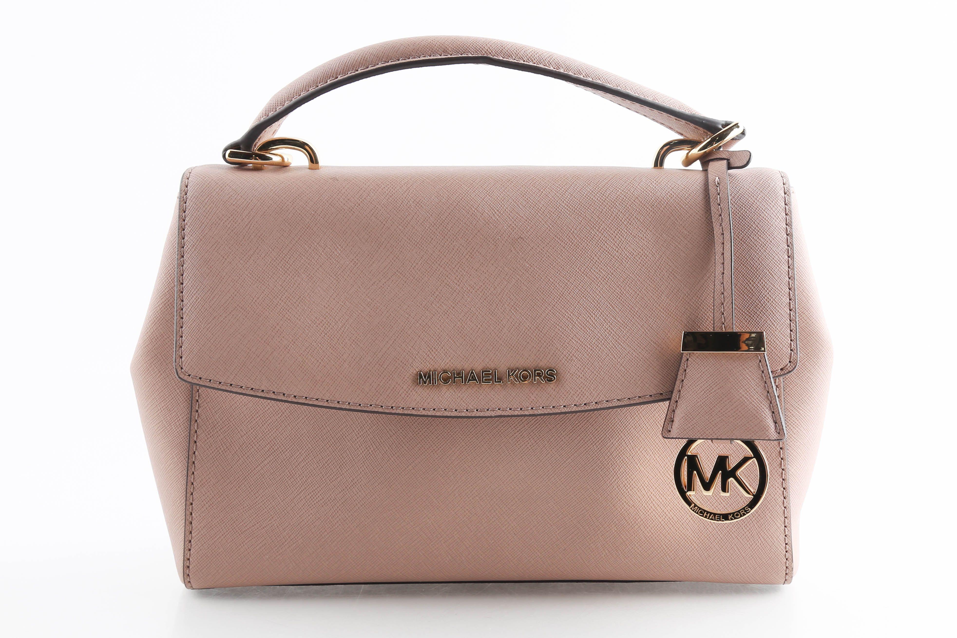 michael kors saffiano small satchel