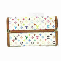 Louis Vuitton White Mulitcolor Sarah Flap Wallet Portefeuille Tresor 867452