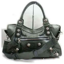 Balenciaga Charcoal Grey Giant the City 2way Shoulder bag 861562