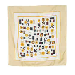 Burberry Vintage Medals Silk Scarf