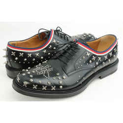 Gucci Calfskin Studded Lace Up Loafers