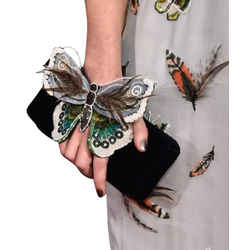 Chanel Butterfly Feather & Sequin Chain Clutch 3CCTTY71417