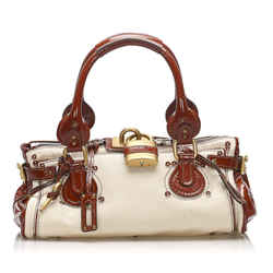 Beige Chloe Paddington Leather Handbag Bag