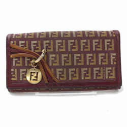 Fendi Monogam Ff Zucca Long Wallet Bordeaux 871277