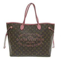 Auth Louis Vuitton Monogram Ikat Flower Neverfull Gm Tote Bag M40877 Leather