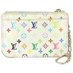 Louis Vuitton White Multicolor Monogram Blanc Pochette Cles NM Key Pouch 102lv727