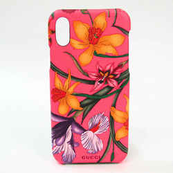 Gucci PVC Phone Bumper For IPhone X Multi-color,Pink Flower pattern 550 BF528253