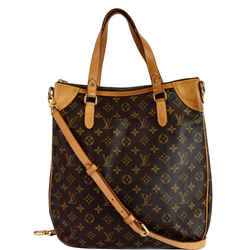 LOUIS VUITTON Odeon GM Monogram Canvas Shoulder Bag Brown