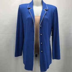 St John Blue Collared Jacket 14