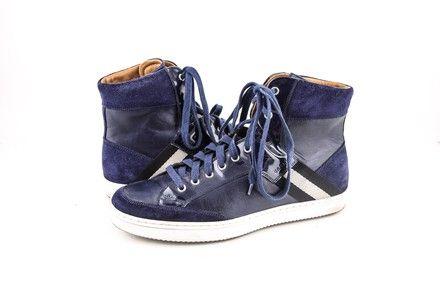 Bally Oldani Calf Plain Sneakers Indigo