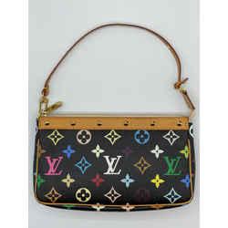 Louis Vuitton x Takashi Murakami Multicolor Pochette Accessoires Clutch Wristlet Limited Edition