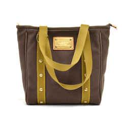Louis Vuitton Cabas MM Brown & Khaki Antigua Canvas Tote bag - 2006 Limited LT063