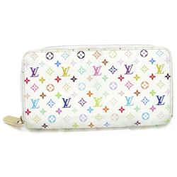 Louis Vuitton Multicolor Zippy Long Wallet Zip Around Monogram White 872717
