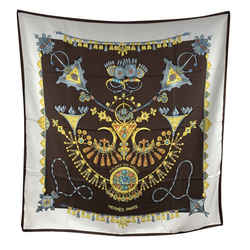 Hermes Paris Vintage Silk Scarf Parures Des Sables 1988 Bourthoumieux