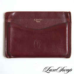 Vintage Cartier Rouge Red Leather Card Case