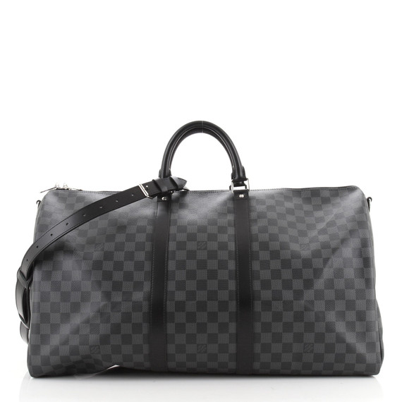Keepall Bandouliere Bag Damier Graphite 55
