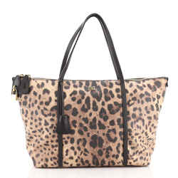 Miss Escape Zip Tote Printed Coated Canvas Large
