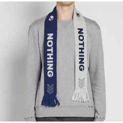 $325 NWT Lanvin Blue And White Jacquard Nothing Football Scarf IN BOX