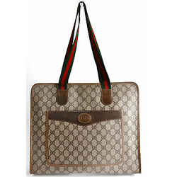 Auth Gucci Sherry Line Women's Gg Plus Tote Bag Brown