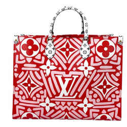 Louis Vuitton Limited Edition Crafty Giant Monogram Onthego GM in Red and Pink Tote Shoulder Handbag