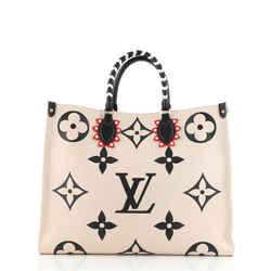 Louis Vuitton Onthego Tote Limited Edition Crafty Monogram Empreinte Giant Gm