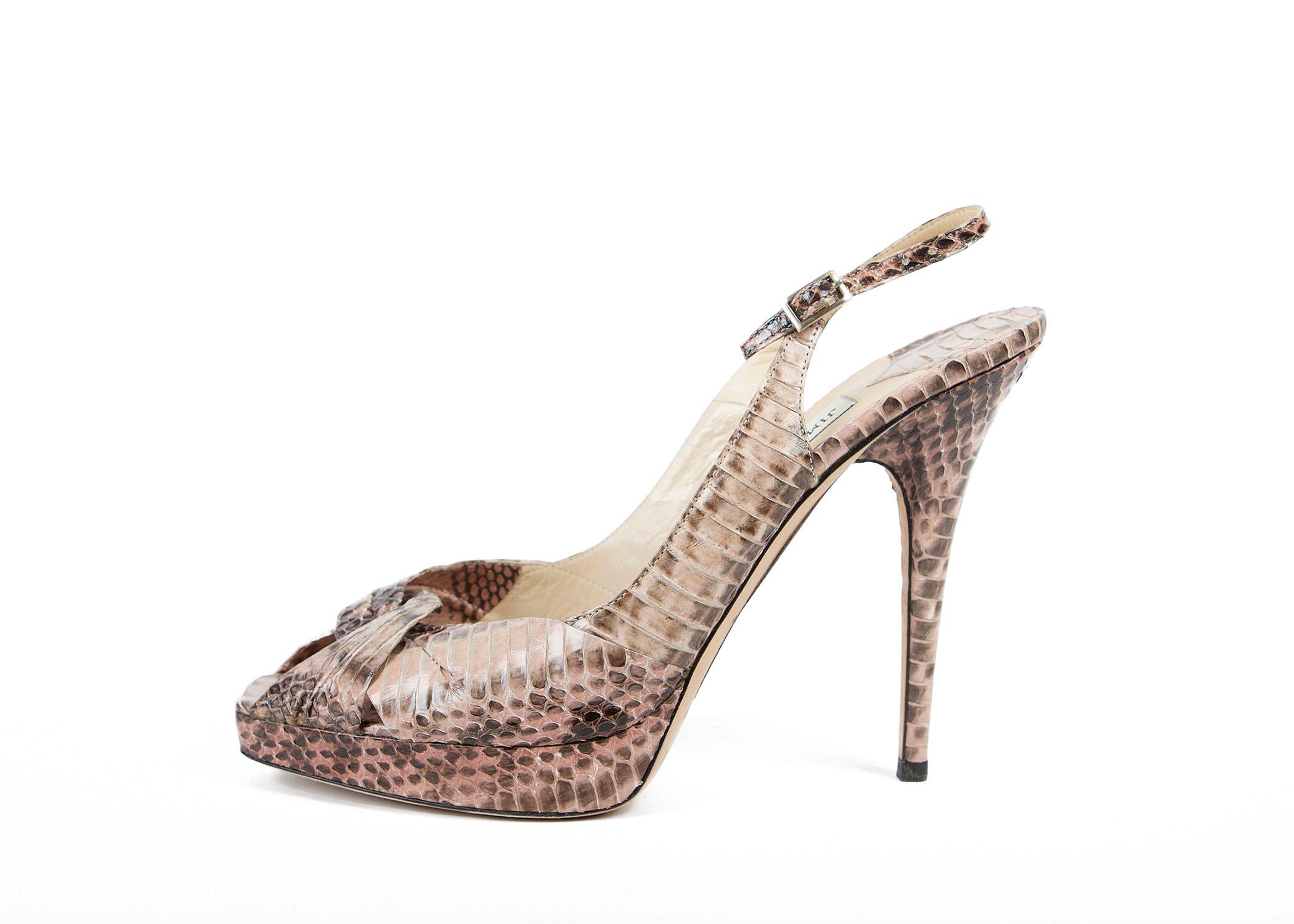 Jimmy Choo Snakeskin Sandals | LePrix