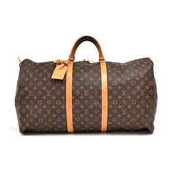 Louis Vuitton Keepall 60 Monogram Canvas Duffle Travel Bag LT952