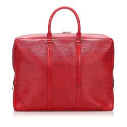 Vintage Authentic Louis Vuitton Red Epi Porte-Documents Voyage France