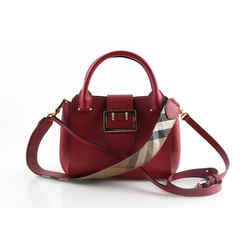 Burberry Soft Grain Small Buckle Leather Tote