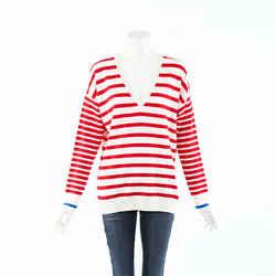 Chinti and Parker Striped Cashmere Knit Boat Sweater SZ XS