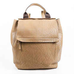 Brunello Cucinelli Backpack Beige Leather Flap