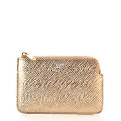 Coin Zip Pouch Leather