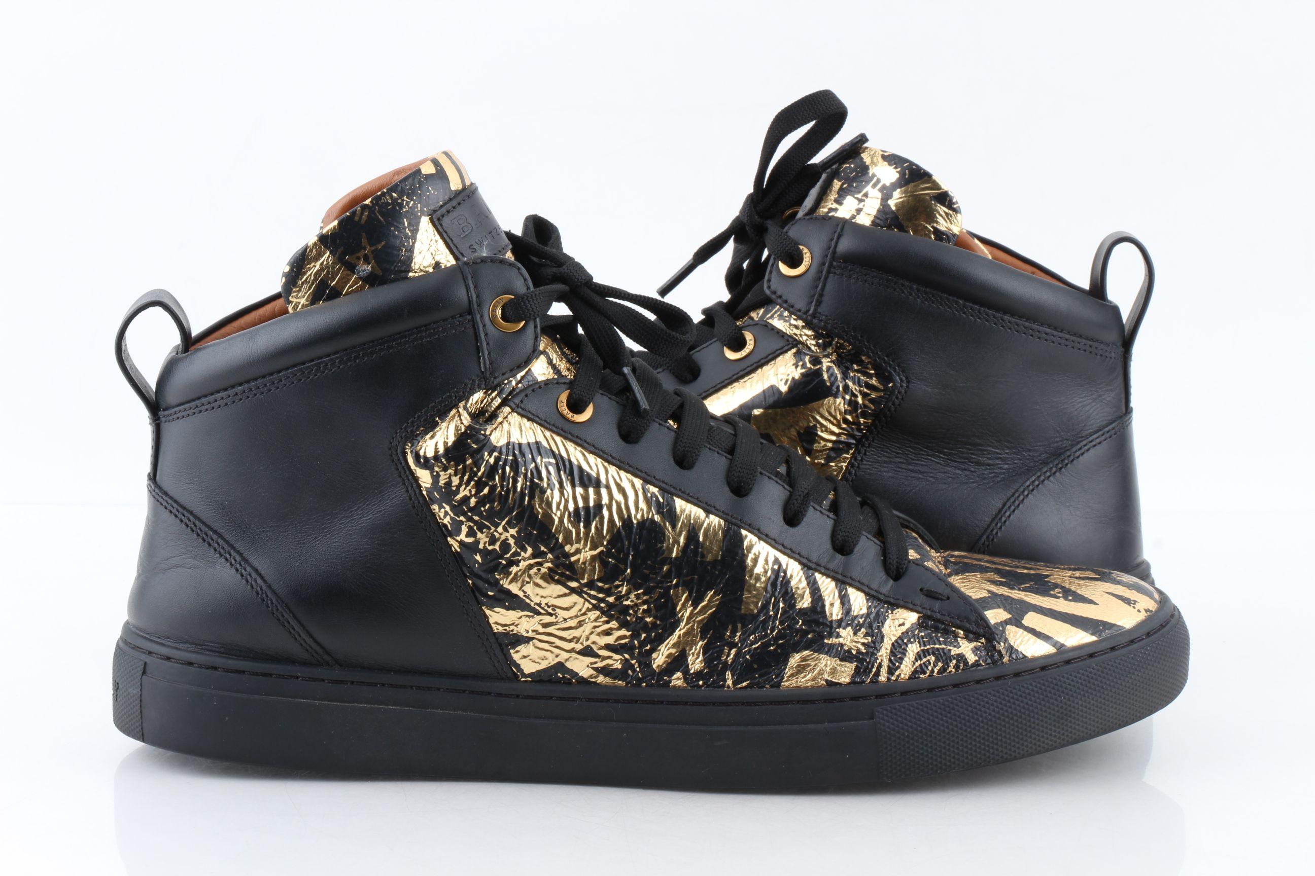 Hedo Graffiti Leather High-Top Sneakers
