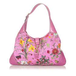 Pink Gucci Flora Jackie Canvas Shoulder Bag