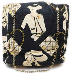 Chanel Large Black Coco Chain Tote Bag 863016