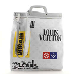 Chalk Flat Tote Bag Limited Edition Logo Story Monogram Canvas