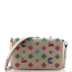 Zoompouch Crossbody Bag Embellished Leather