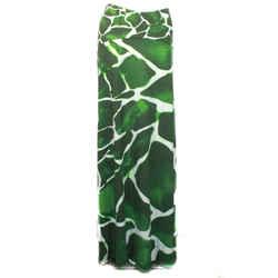Roberto Cavalli - Ultra Rare Runway Skirt - Green Giraffe Print Maxi - Us 2 - 40
