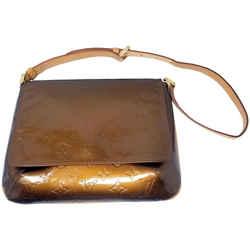 Louis Vuitton Vernis Leather Thompson Street Bronze Gold Shoulder Bag
